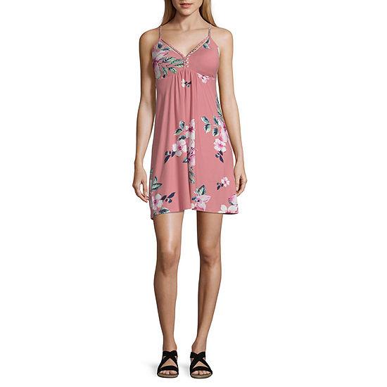 Derek Heart Sleeveless Floral Fit & Flare Dress-Juniors