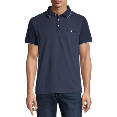 Claiborne Performance Short Sleeve Slim Fit Polo Shirt