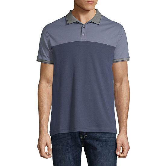Claiborne Colorblock Short Sleeve Slim Fit Polo