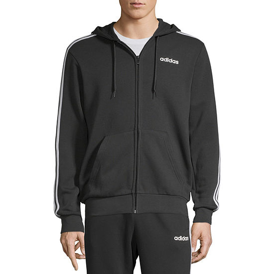 adidas Essential Full Zip Mens Long Sleeve Hoodie