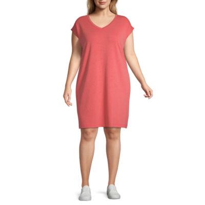 St. John's Bay Active T-Shirt Dress - Plus