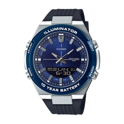 Casio Mens Black Strap Watch-Amw860-2av