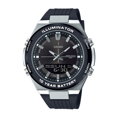 Casio Mens Black Strap Watch-Amw860-8av