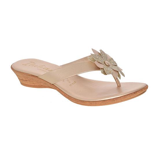 Italiana By Italian Shoemakers Womens Isobel Wedge Sandals
