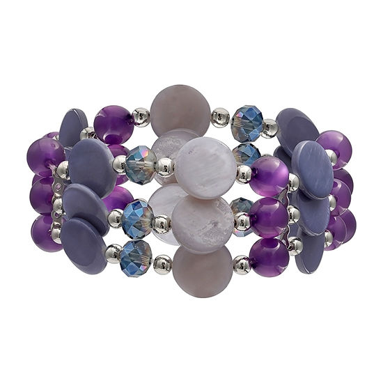 Mixit Lavender Multi Row Stretch Beaded Bracelet