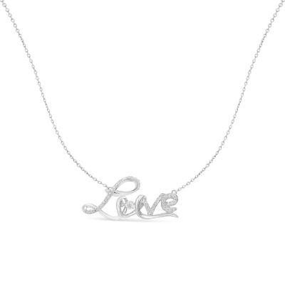 Womens 1/4 CT. T.W. Genuine White Diamond Pendant Necklace
