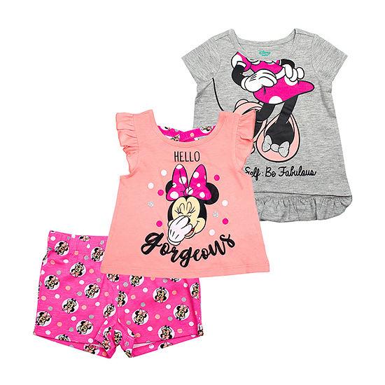 Disney 3-pc. Minnie Mouse Short Set Toddler Girls