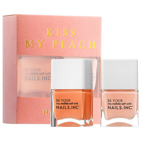 NAILS INC. Kiss My Peach Duo Nail Set