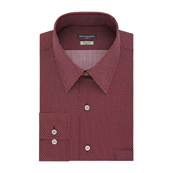 Van Heusen Vh Flex Stretch Bt Mens Point Collar Long Sleeve Stretch Dress Shirt