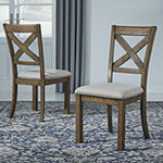 Signature Design by Ashley® Kavarna Set of 2 Upholstered Counter Height Stools