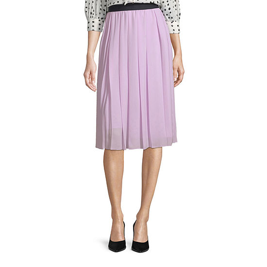 Worthington Womens Assymetrical Pleated Skirt - Tall
