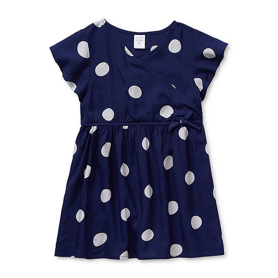 Peyton & Parker Toddler Girls Short Sleeve Wrap Dress