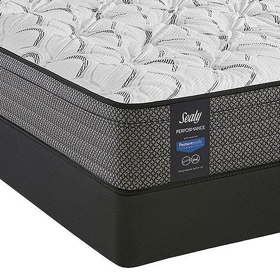 Sealy® Posturepedic Evanston Cushion Firm Euro Top Mattress + Box Spring