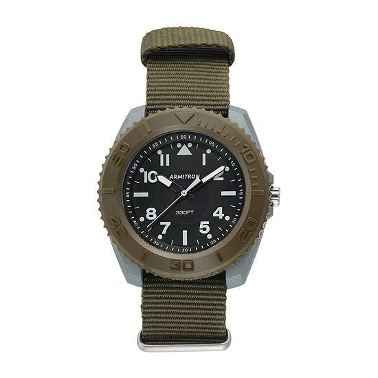 Armitron Pro Sport Mens Green Strap Watch-20/5417dgn