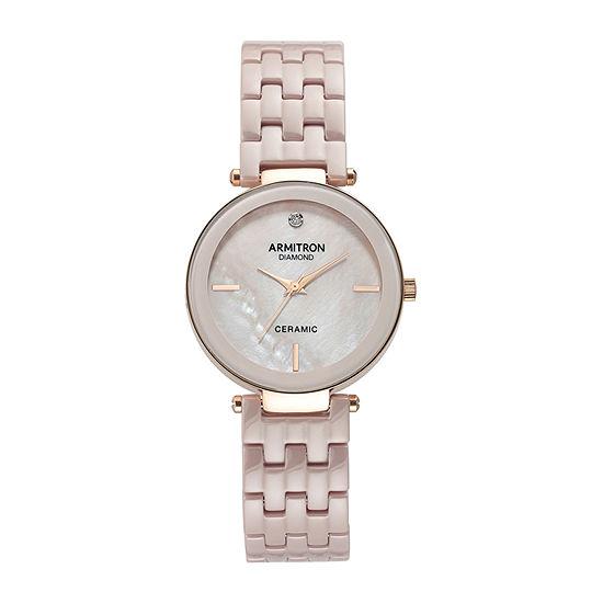 Armitron Unisex Adult Diamond Accent Rose Goldtone Bracelet Watch-75/5614tmrg