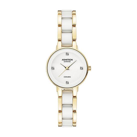 Armitron Armitron Womens White Bracelet Watch - 75/5532wtgp