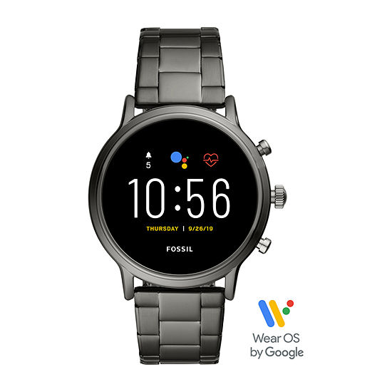 Fossil Smartwatches Gen 5 The Carlyle Hr Mens Multi-Function Gray Stainless Steel Smart Watch Ftw4024