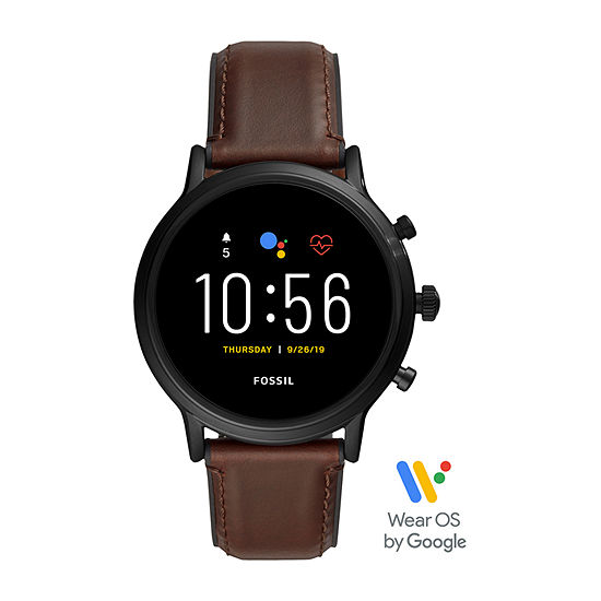 Fossil Smartwatches Gen 5 The Carlyle Hr Mens Multi-Function Brown Leather Smart Watch-Ftw4026