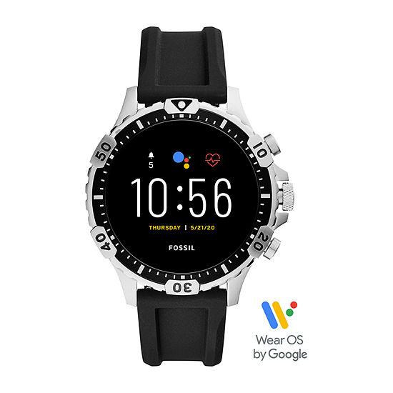 Fossil Gen 5 Garrett Hr Mens Multi-Function Black Smart Watch-Ftw4041