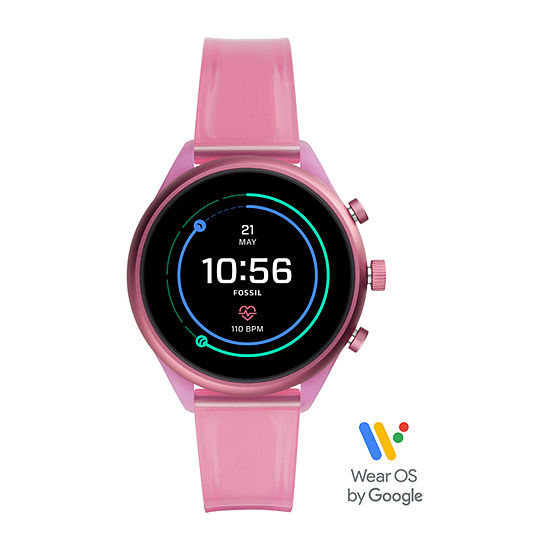 Fossil Smartwatches Sport Womens Multi-Function Pink Smart Watch-Ftw6058