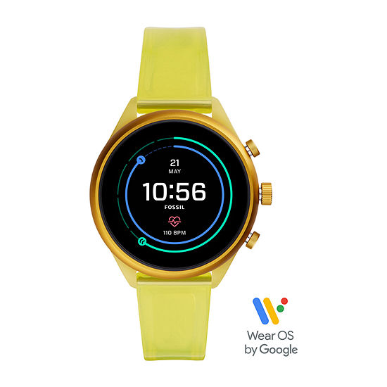 Fossil Smartwatches Sport Womens Multi-Function Yellow Smart Watch-Ftw6060