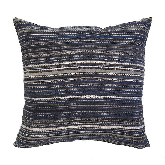 Home Fashions International Peak Indigo Square Throw Pillow