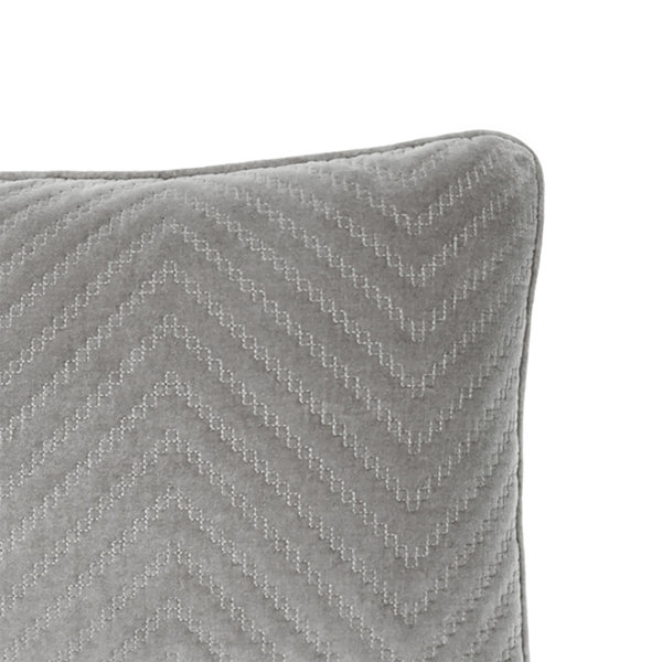 Fieldcrest Luxury Cotton Chevron Velvet Oblong Throw Pillow