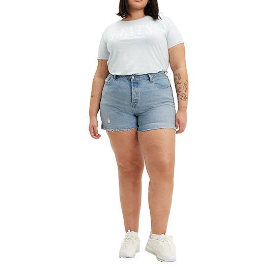 "Levi's Womens High Rise 5"" Denim Short-Plus"