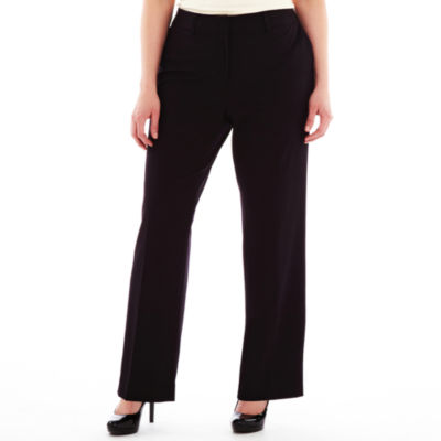 Liz Claiborne® Classic Sophie Secretly Slender™ Trouser Leg Pants - Plus Short