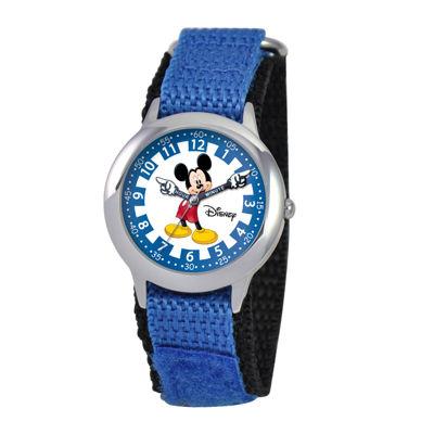 Disney Articulating Mickey Mouse Kids Time Teacher Blue Watch