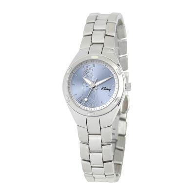 Disney Fortaleza Cinderella Womens Silver-Tone Watch