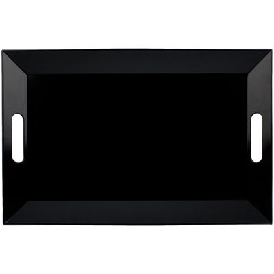 Black Rectangular Serving Tray with Handles