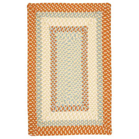 Colonial Mills Montego Reversible Braided Indoor/Outdoor Rectangular Rug, One Size , Orange