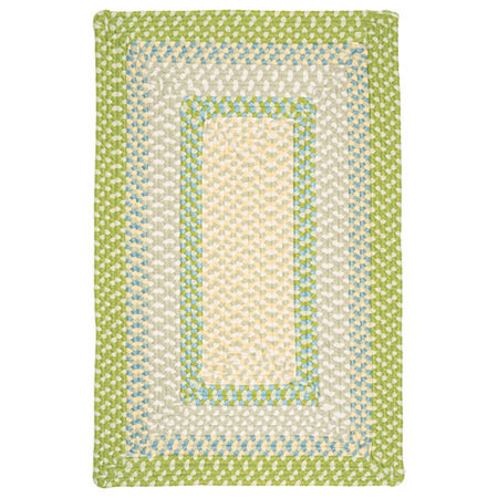 Colonial Mills Montego Reversible Braided Indoor/Outdoor Rectangular Rug, One Size , Green