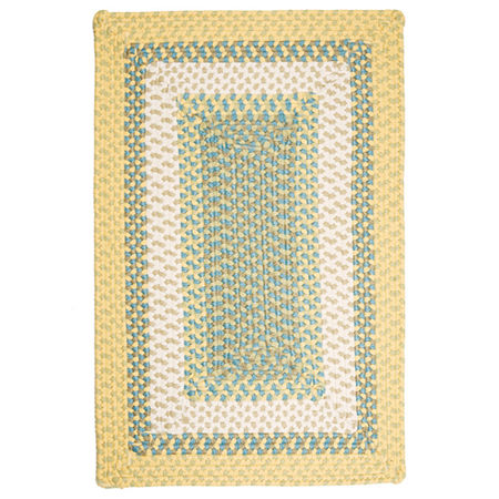 Colonial Mills Montego Reversible Braided Indoor/Outdoor Rectangular Rug, One Size , Yellow