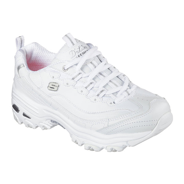 Skechers D'lites Athletic Sneakers Women's Size 6 White/Silver