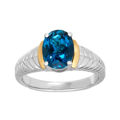 Genuine London Blue Topaz Sterling Silver Ring