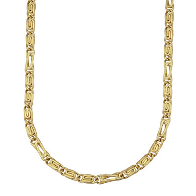 "Made in Italy 14K Round Byzantine 22"" Chain"