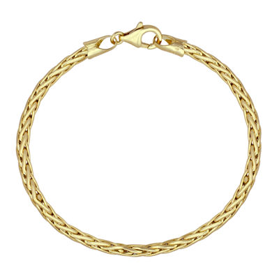 "Made In Italy 14K Gold 8"" Wheat Chain Bracelet"