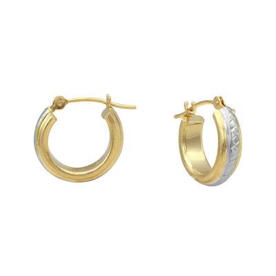 Majestique 18K Gold Hoop Earrings