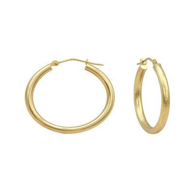 Majestique™ 18K Yellow Gold 25mm Hollow Hoop Earrings