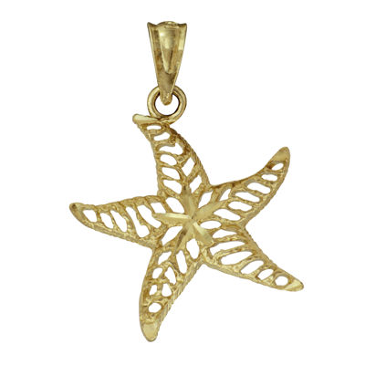 10K Yellow Gold Starfish Pendant