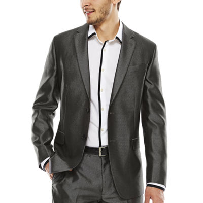 JF J. Ferrar® Diamond Charcoal Shimmer Suit Jacket - Slim