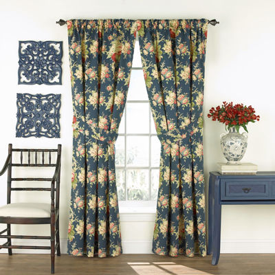 Waverly® Sanctuary Rose Floral 2-Pack Curtain Panels