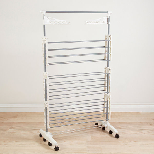 Everyday Home 8-Transition Rolling Stainless Steel Drying Rack