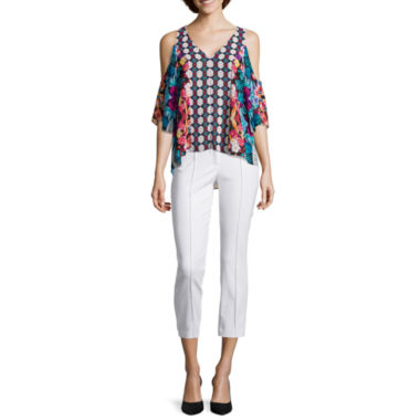 jcpenney.com | nicole by Nicole Miller® Cold Shoulder Top or Ankle Pants