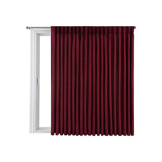 Royal Velvet Supreme Pinch-Pleat/Back-Tab Thermal Patio Door Panel