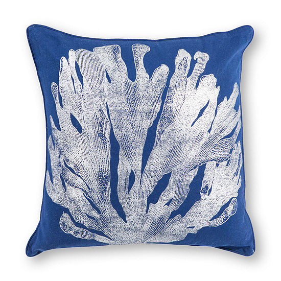 Kas Coral Square Throw Pillow