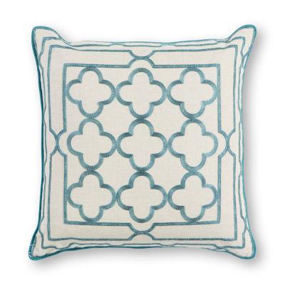 Kas Trefoil Square Throw Pillow