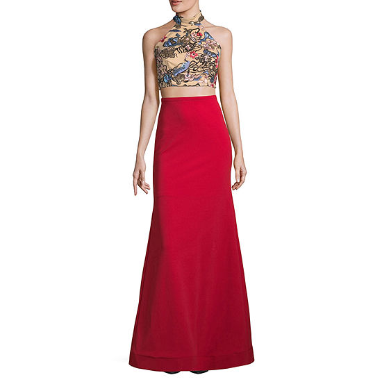 Social Code-Juniors Sleeveless Embellished Dress Set